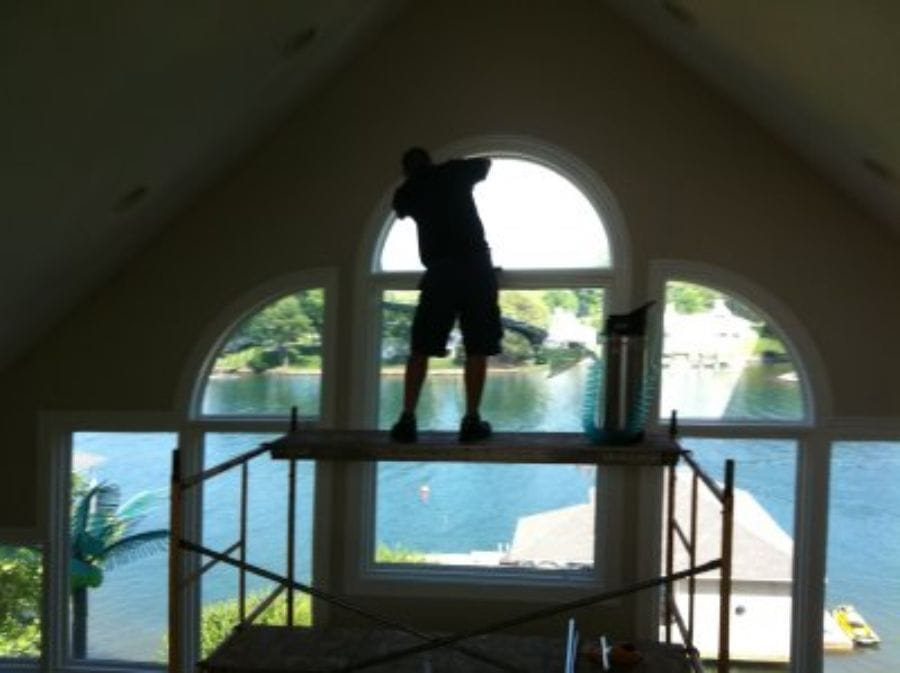 home window film installation at DeDona